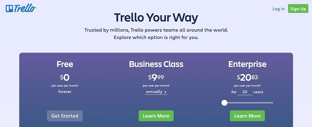 pricing trello - Kyber Digital