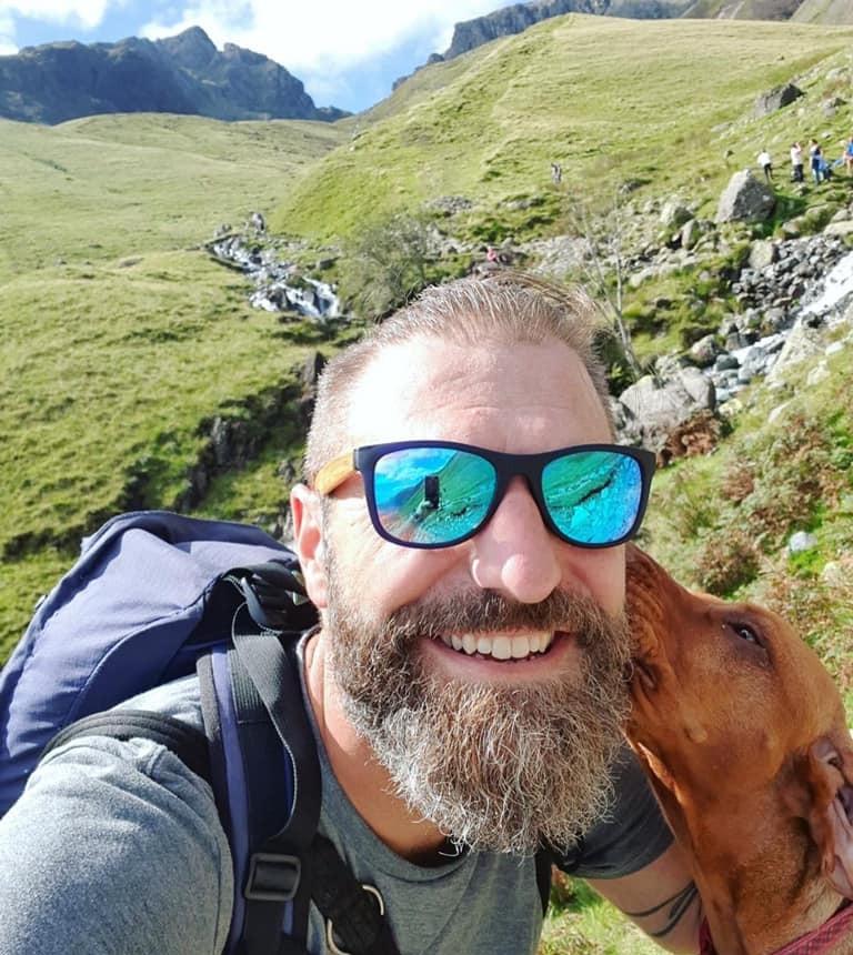 Rob Osman and Dog