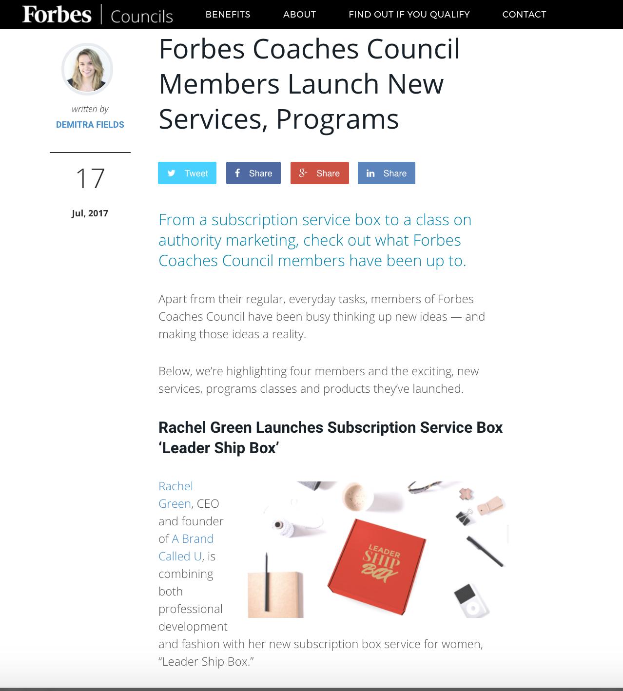 PRESS | A Brand Called U | Client Coverage