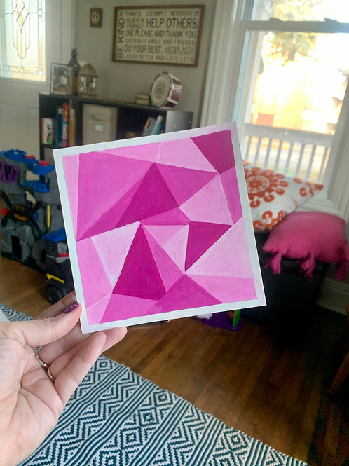 FRAGMENTED PINK 6x6in Gouaches Paint