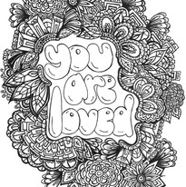 You Are Loved Coloring Book