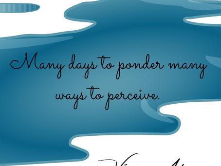 Many Days to Ponder Many Ways to Perceive.
