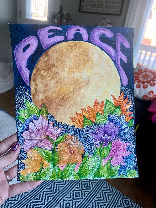 PEACE MOON 8x10in