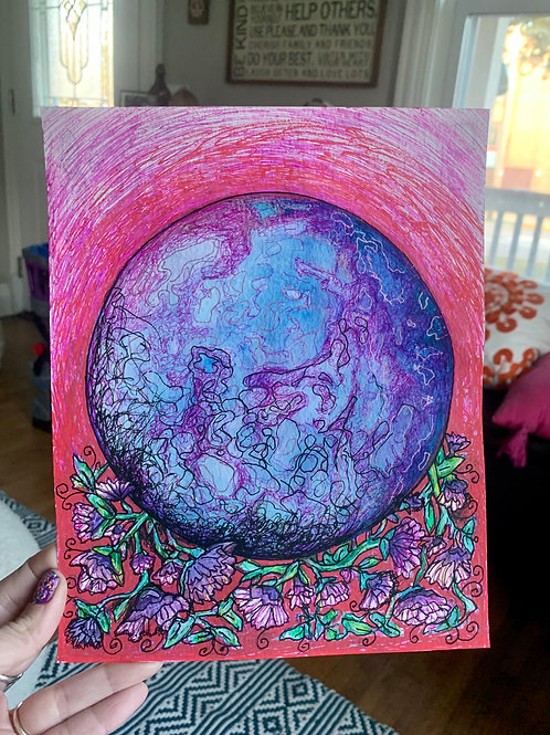A NEW EARTH 8x10in