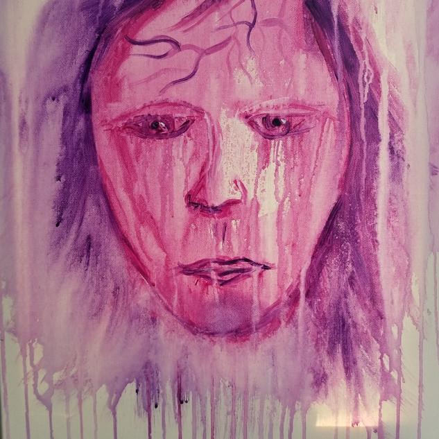 EyeAmCreations Reflection Painting Bleeding Heart