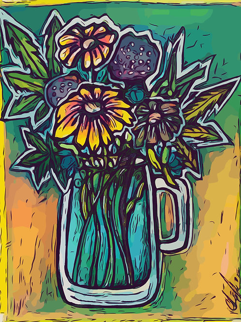 """""""Mary Jane Bouquet"""" - Limited Edition Glicee Print"""