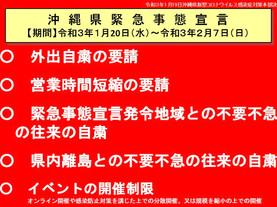 緊急事態宣言(2/7まで)