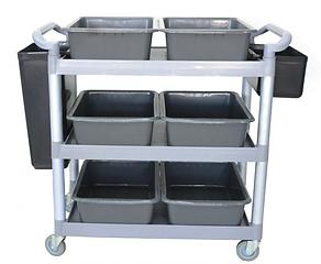 3 Tiers Utilities Cart comes with Bucket