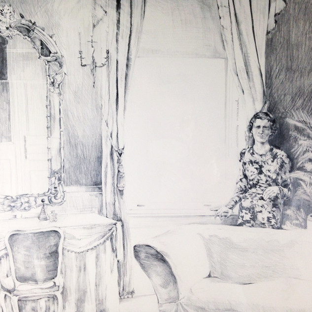 Agnes in the Drawing Room