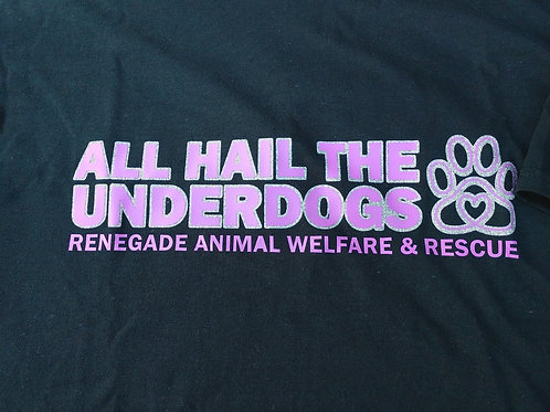 All Hail The Underdogs Glitter T-Shirt