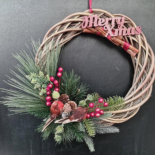 """Christmas Door Wreath """"Merry Xmas"""""""