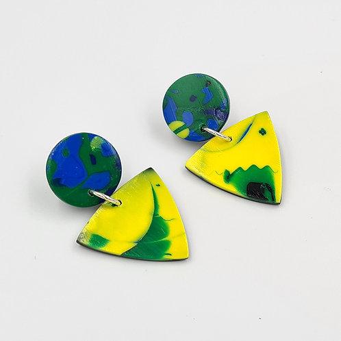 "Polymer clay earrings ""Spring"""