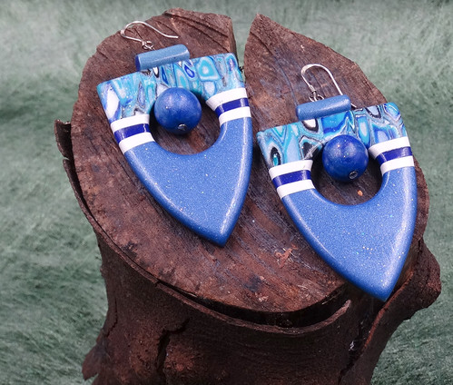 The Blue collection Earrings Polymer Cla