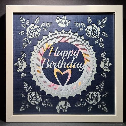 """Shadowbox """"Happy Birthday"""""""