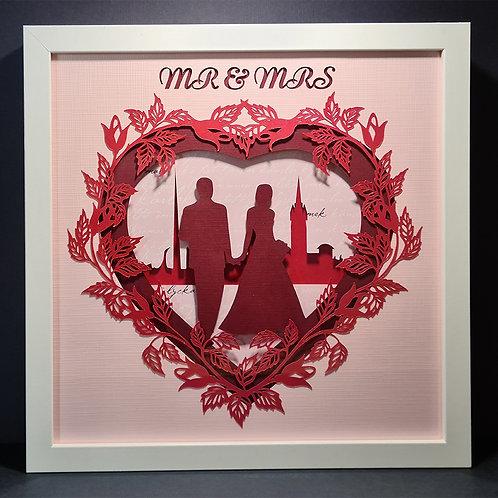 "Shadowbox ""Mr & Mrs"""
