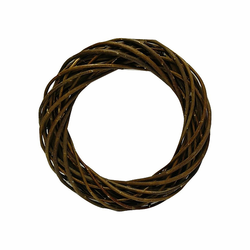 Wreath Base Woven Natural Dark Willow 30cm