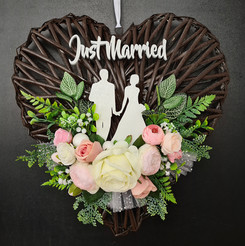 Wedding Wreath Collection. Just Married.jpg