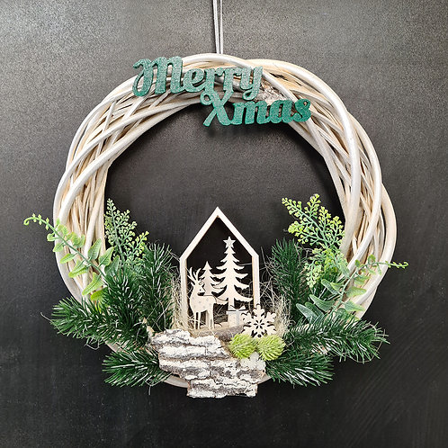 "Christmas Door Wreath ""Green Xmas"""