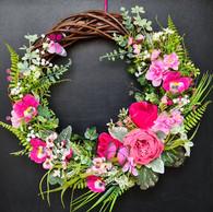 Spring Door Wreath The Pink Pansy Flowers2.jpg