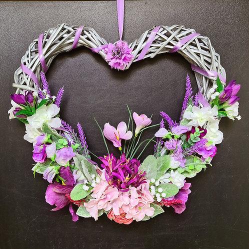 """Faux Floral Door Wreath """"The Crocus Flower"""""""