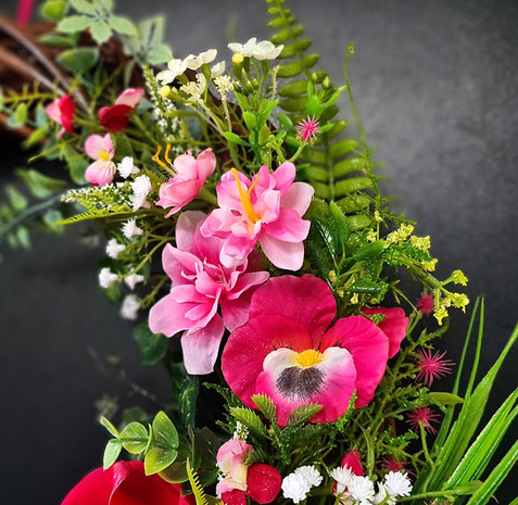 Spring Door Wreath The Pink Pansy Flower