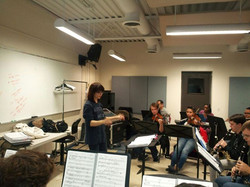 Ragtime orchestra rehearsal..
