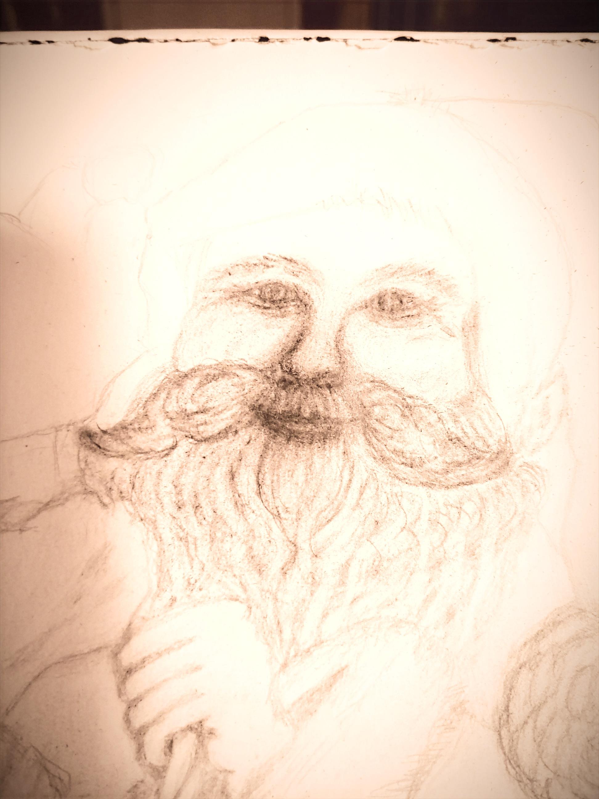 Santa Sketching'