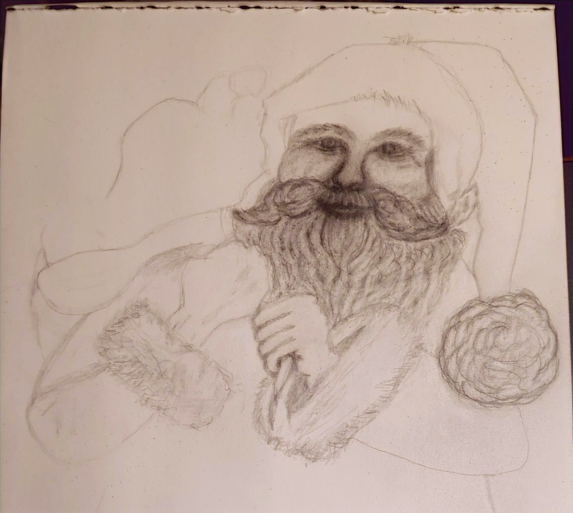 Santa Sketch Looks good to me!