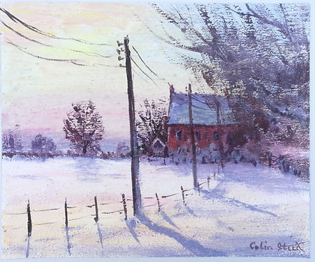 Winter at Wood Farm, Galleywood (acrylic