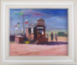 The Crab Hut, Brancaster Staithe (framed