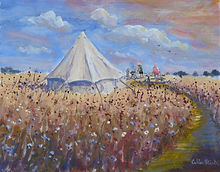 Wild Flowers and Tent..JPG