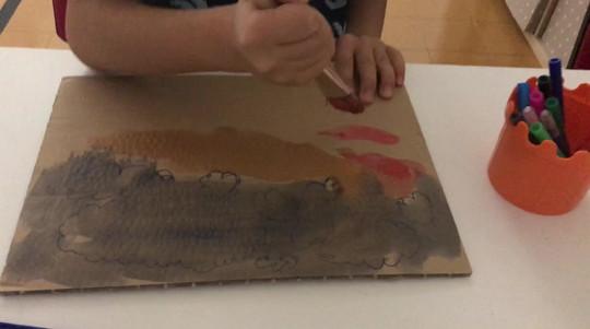 Pittura libera con acquerelli