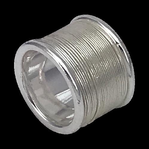 Large silver bobbin ring