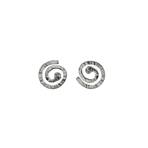 Swiss roll earrings
