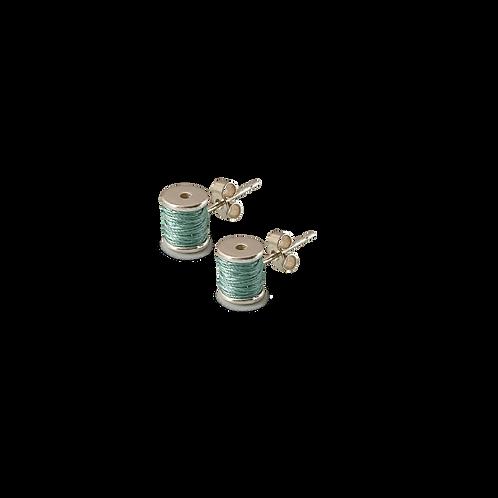 Cotton reel stud earrings