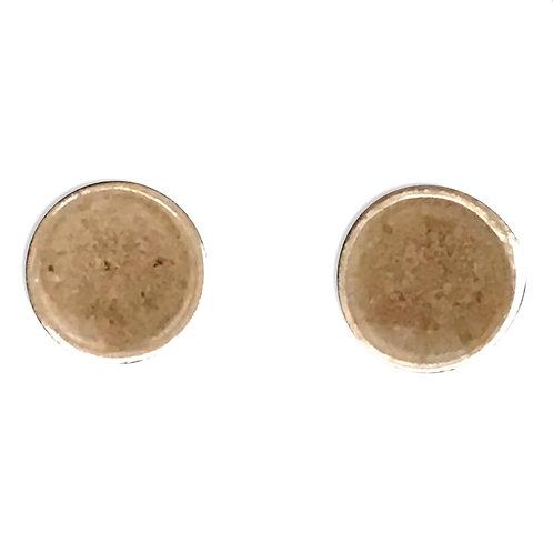 Sand earring studs