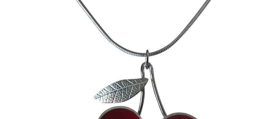 Cherry leaf necklace
