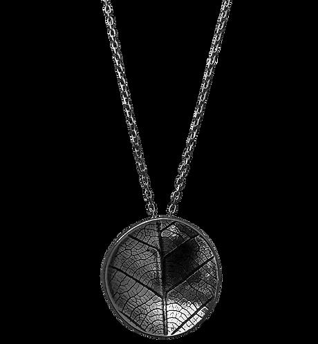Domed leaf necklace
