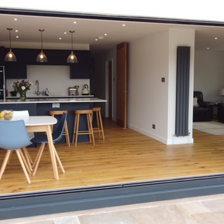 Open plan refurb with 8m wide doors to rear
