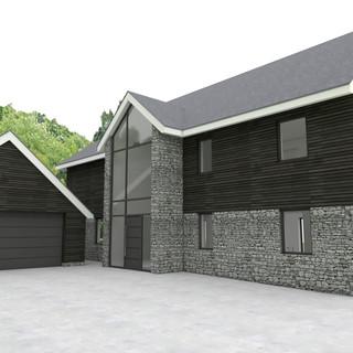 CGI of new dwelling in East Devon