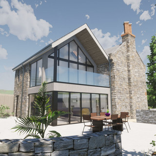 Contemporary Extension to a traditional cottage on Dartmoor