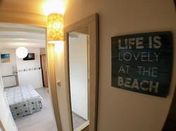 Romantische opgang naar hotelkamer