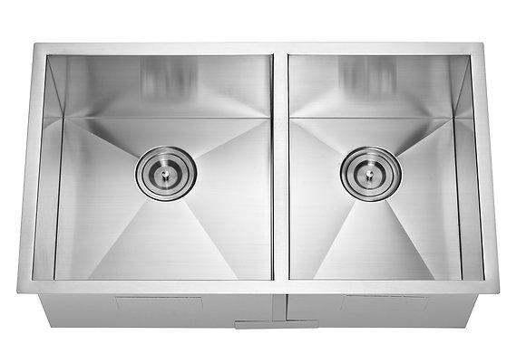 Undermount Square Double Bowl Sink F3219BL