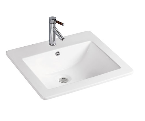 Rectangular Ceramic Overmount Basin SK-9050-WH