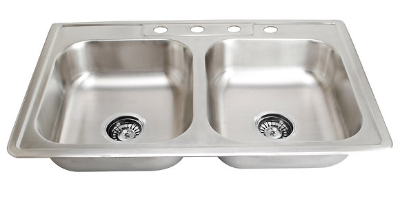 Top Mount Double Bowl Sink SM560-820-9