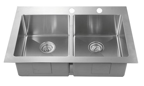 Topmount Double Bowl Sink RD3322-D