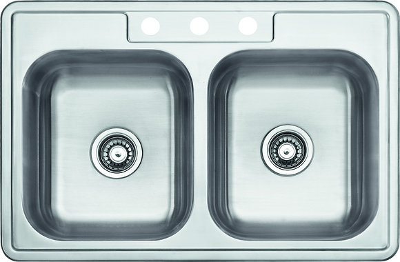 Top Mount Double Bowl Sink SM560-820-8