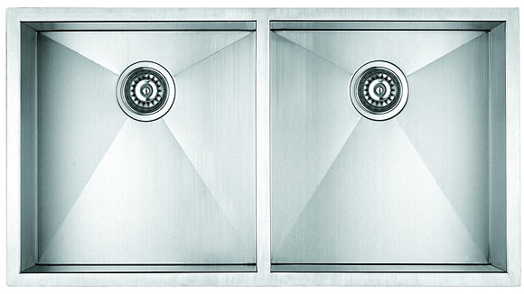 Undermount Square Double Bowl Sink F3219D