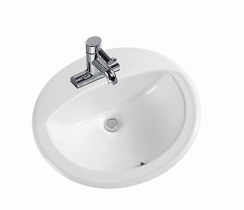 Oval Drop In Lavatory Basin SK-25-WH
