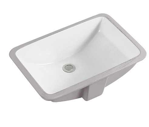 Rectangular Ceramic Undermont Basin SK-2254-WH